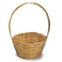 Bamboo 6 Inch Round Handle Basket
