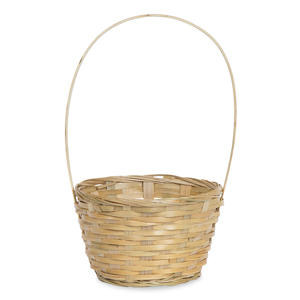 Round Bamboo Handle Basket 6in