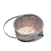 Bamboo Oval White with Swing Handle