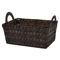 Audrey Rush Rectangular Utility with Side Handles - Mahogany