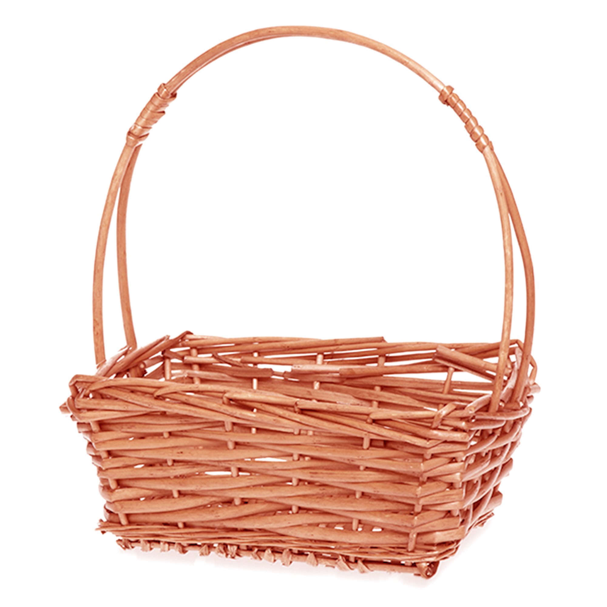 Willow Rectangular Handle Basket - Honey 9in
