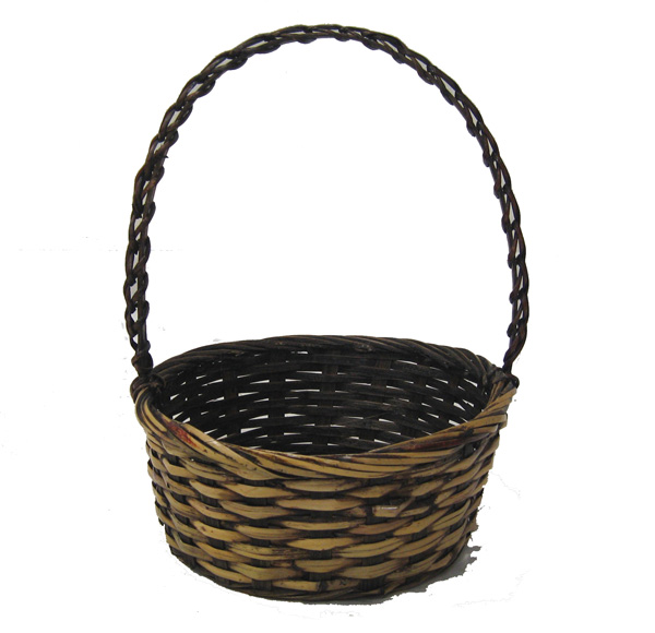 Round Wicker Baskets With Handles : Set of stain round handle baskets the lucky clover