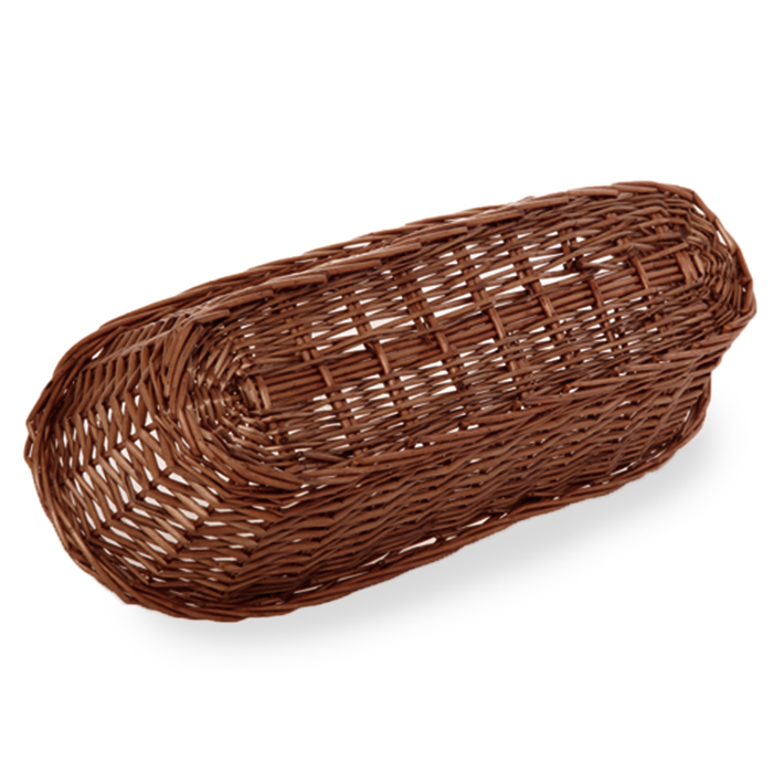 Baskets baskets large wicker bread on christmas baskets for kitchen - Willow Large Bread Basket The Lucky Clover Trading Co