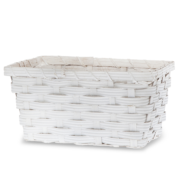 Woodchip Rect Utility Basket White - Small 9in