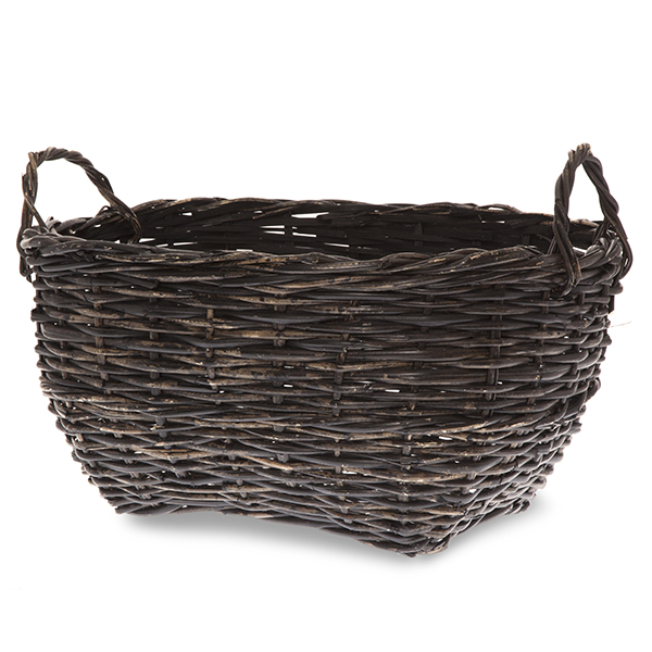 Oblong Handle Basket with Side Handles 14in