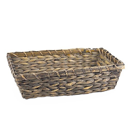 Rectangular Sea Grass Bamboo Basket - Medium 13in
