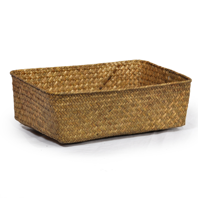 Alexa Rectangular Tray Basket - XL 14in- Natural