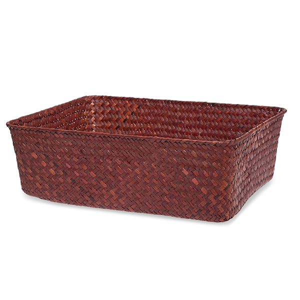 Alexa Rectangular Tray Basket XL - Red 14in
