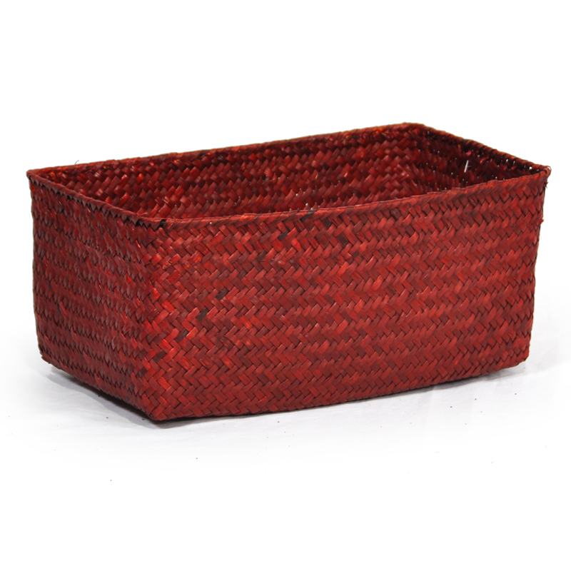 Alexa Slim Rectangular Utility Basket - Large 12in- RED