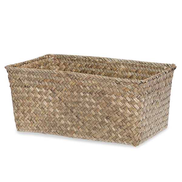 Alexa Slim Rectangular Utility Basket - Large 12in- Natural