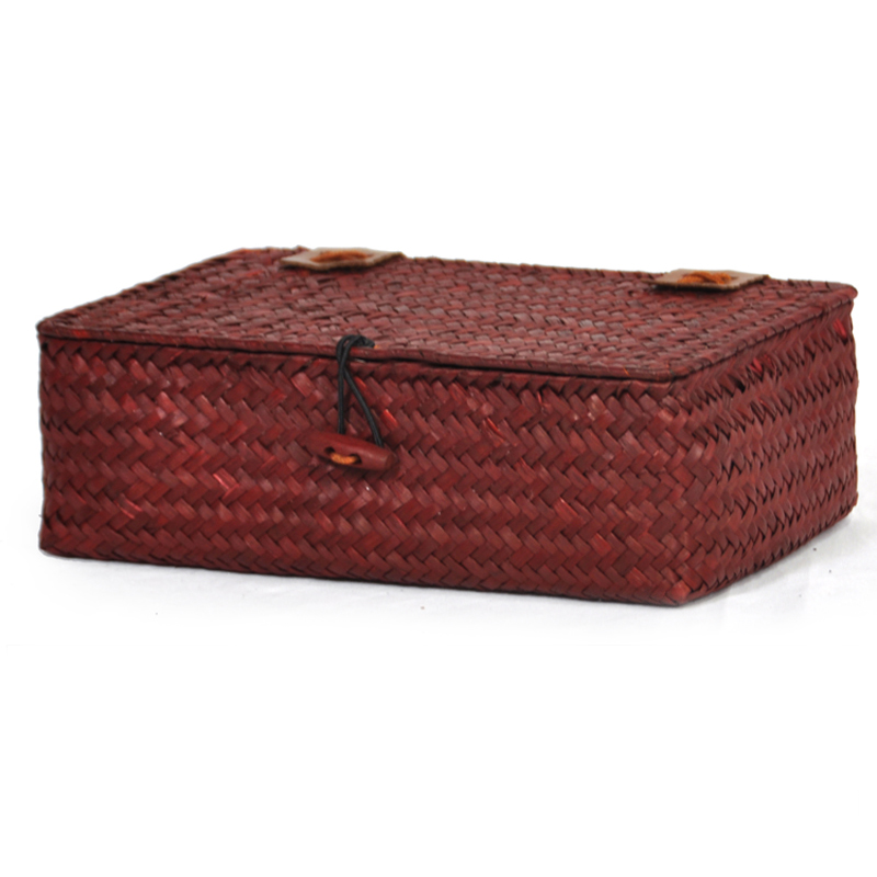 Alexa Keepsake Storage Box with Lid Small - Red 9in