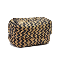 Alexa Zig Zag Pattern Oblong Basket with Lid