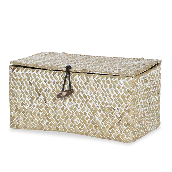 Alexa Keepsake Storage Box with Lid Medium - White Wash 10in