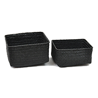 Alexa Square Utility Set of Two - Black