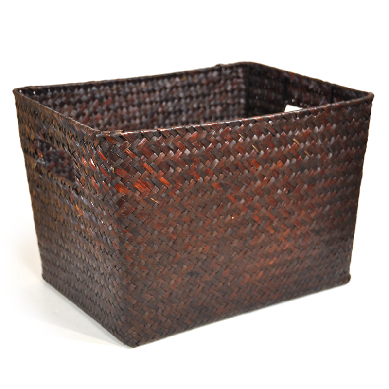 Alexa Small Utility Storage Basket - Mahogany 12in