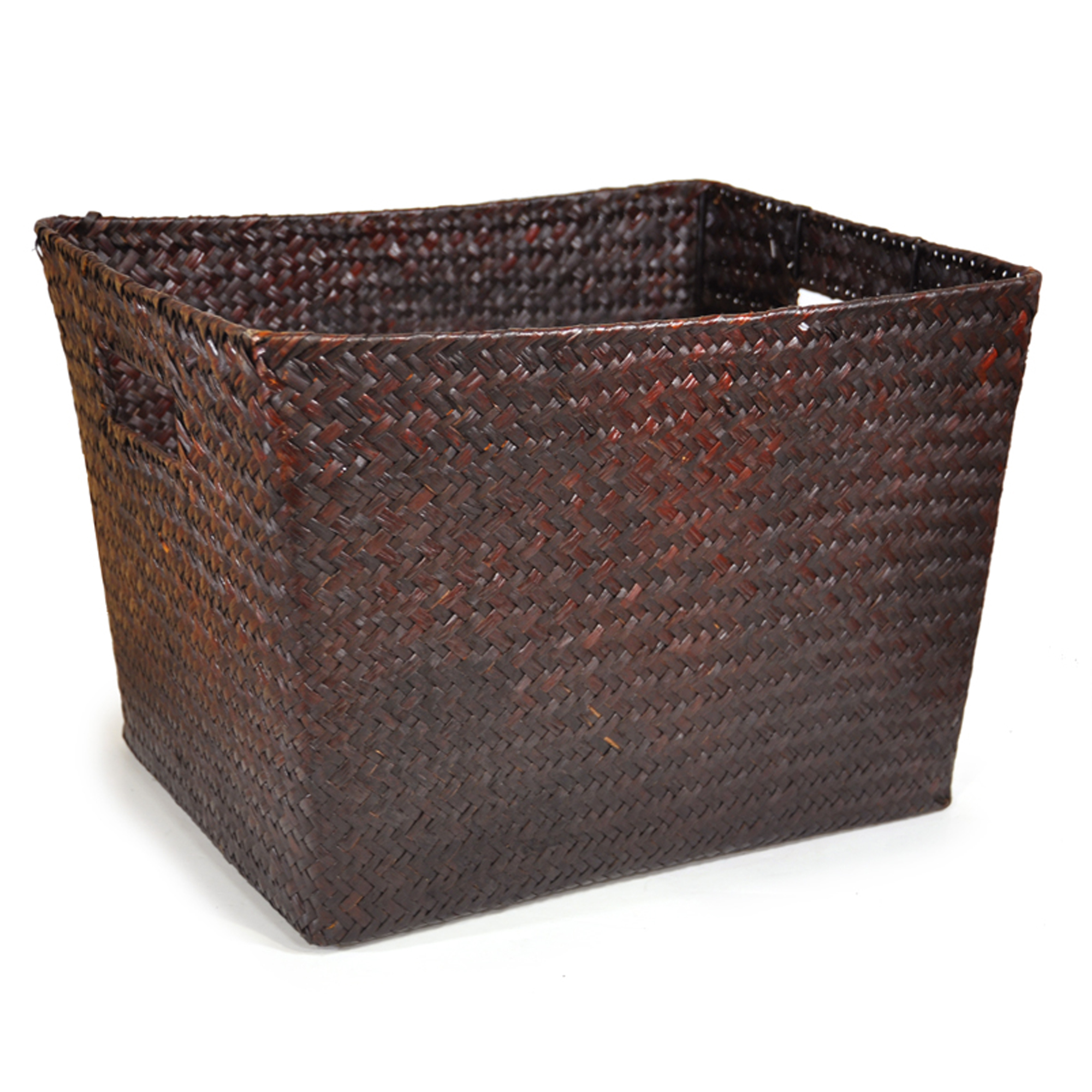 Alexa Large Utility Basket - Mahogany 14in