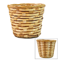 Fern Bamboo Round Planter - Assorted