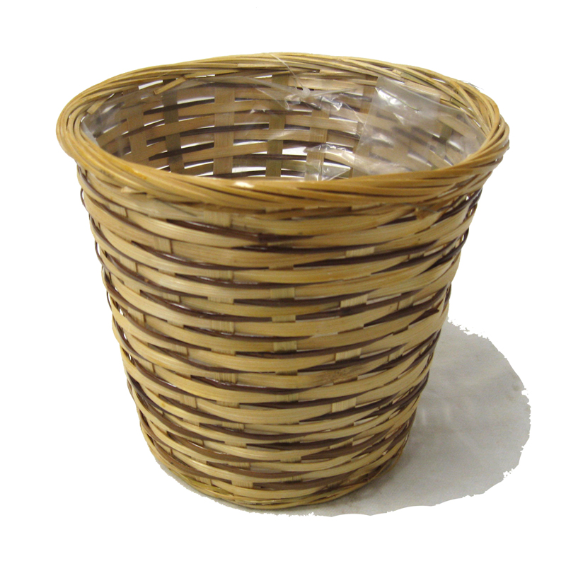 Bamboo Round Planter Basket with Liner - 12in