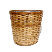 Bamboo Stained Planter Utility
