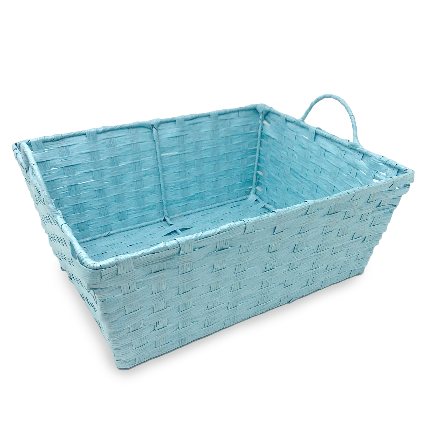 Rectangular Paper Fiber with Handle Basket 12in