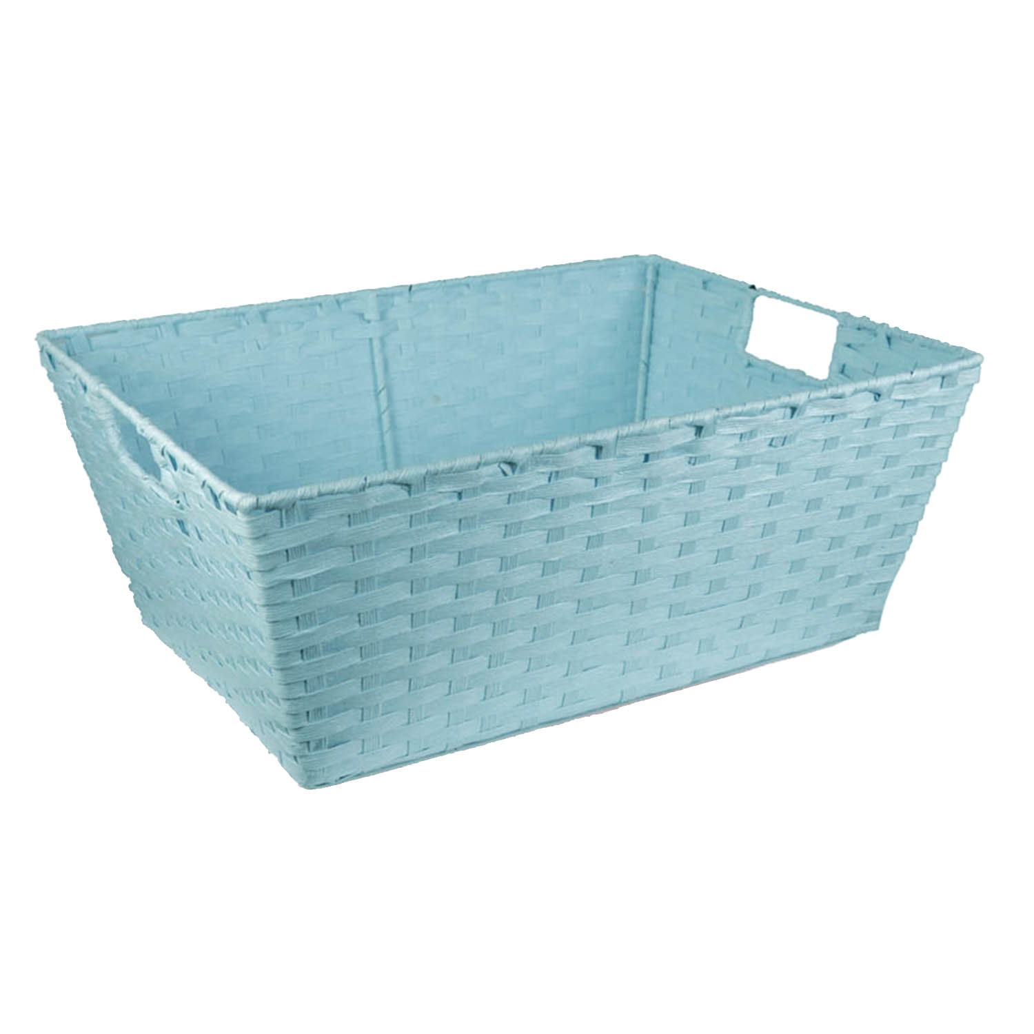 Rectangular Paper Fiber Storage In-Handle Large - Pale Blue 16in