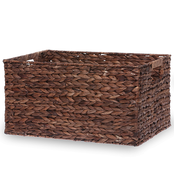 Rect Rush Utility Basket with In-Handles Large - Coffee 17in