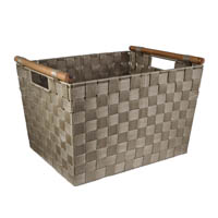 Sophia Simple Storage Basket with Wood Handle