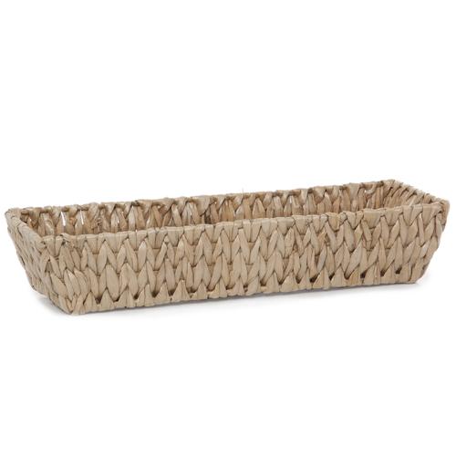 Long Slim Rectangular Rush Utility Tray Basket The Lucky