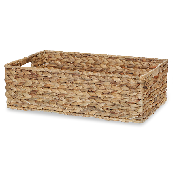 Beau Audrey Natural Rush Utility Basket With In Handles   Large 19in
