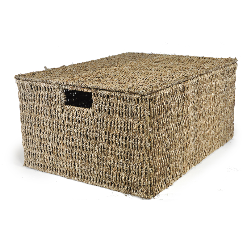 large sea grass storage box with lid the lucky clover trading co. Black Bedroom Furniture Sets. Home Design Ideas