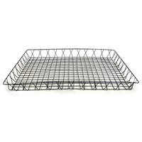 Shallow Rectangular Wire Tray - Large