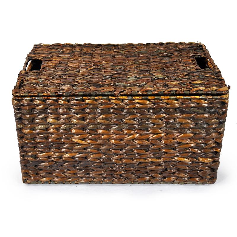 Audrey Mahogany Storage Basket Removable Lid   Large 20in. Zoom. Thumb  Thumb Thumb Thumb Thumb