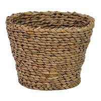 Braided Palm Round Planter Utility - Natural