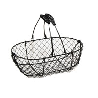 Stella Black Mini Oblong Wire with Swing Handle