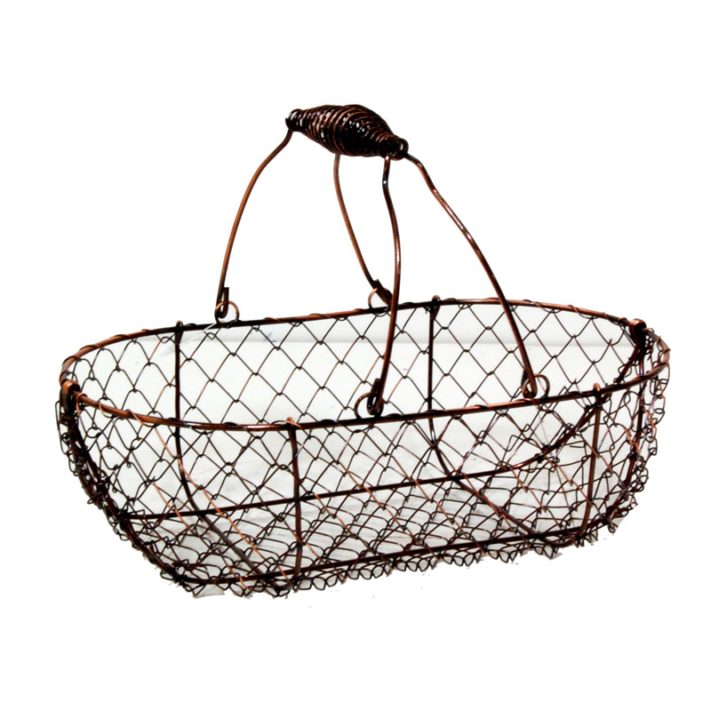 stella copper mini wire oblong basket the lucky clover. Black Bedroom Furniture Sets. Home Design Ideas
