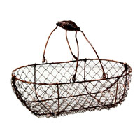 Stella Mini Copper Wire Basket with Swing Handle