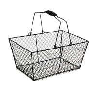 Stella Black Rectangular Wire Mesh with Swing Handle