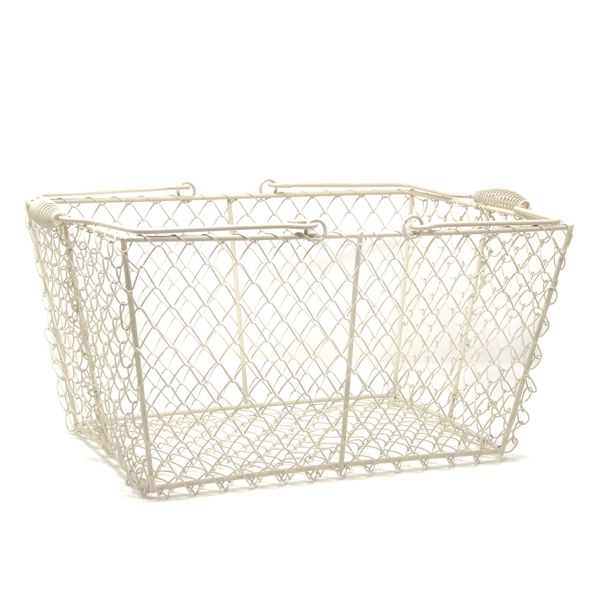 Rectangular Wire Mesh | Wire Rectangular Mesh With Swing Handle Cream The Lucky Clover