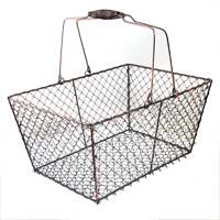 Stella Rectangular Wire Mesh with Swing Handle - Copper