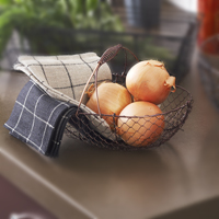 Stella Oblong Fixed Handle Wire Basket (Copper)