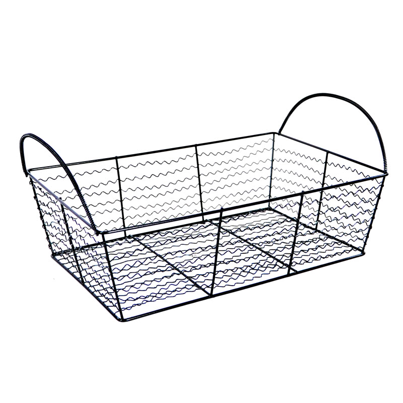 Stella Rectangular Utility Wire Basket - Black 11in