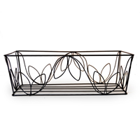 Stella Rectangular Wire Basket (Leaf Motif)