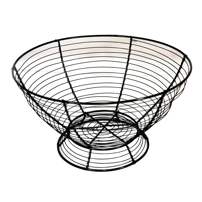 round table top wire bowl basket the lucky clover trading co