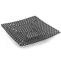 Arden Circle Design Square Black Tray