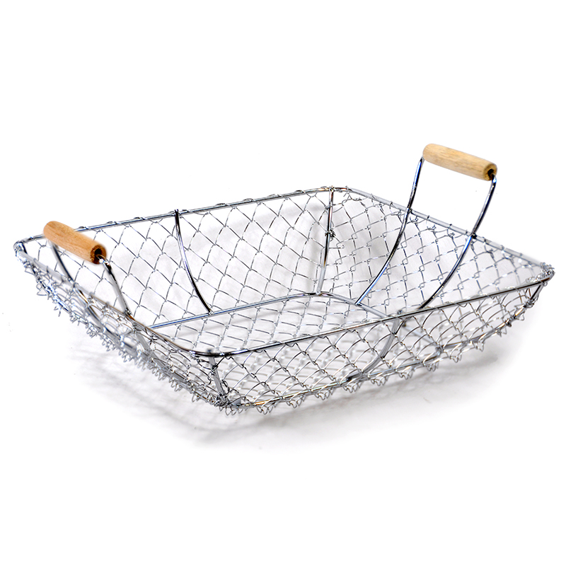 Stella Square Basket With Wood Handles Large The Lucky