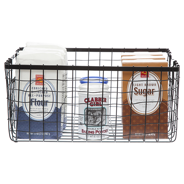 Stella Rect Steel Wire Basket - Large 14in