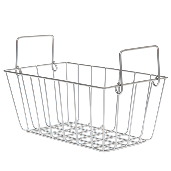 Silver Wire Basket With Handle | Stella Rect Wire Basket With Swing Handle Silver Small The Lucky
