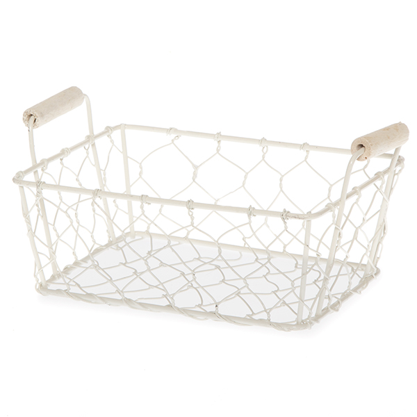 Stella Mini Rect Wire Mesh Utility Basket with Side Handles 5in