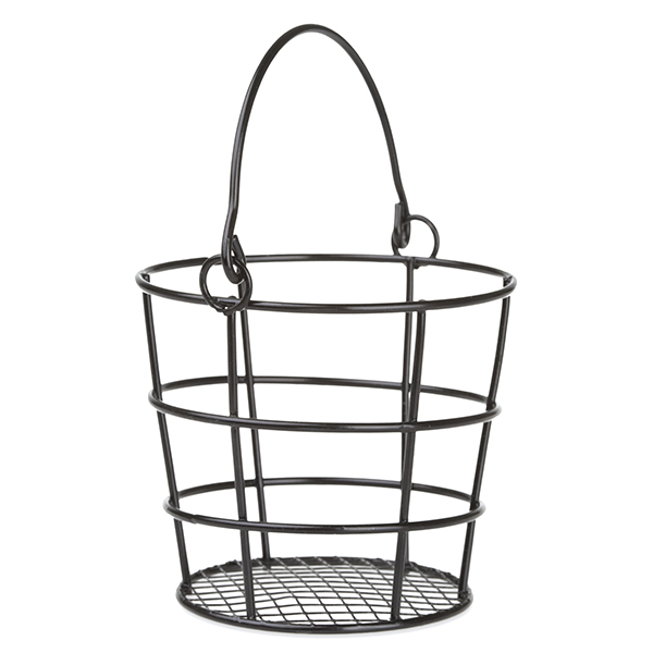 Stella Mini Round Wire Pail with Swing Handle 3in