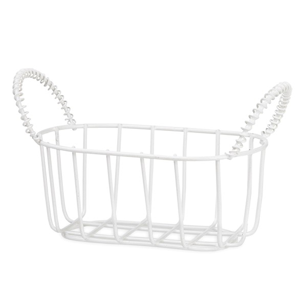 Stella Mini Oblong Wire Basket with Ear Handles 4in